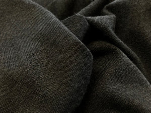 Black Sweater Knit 95% Polyester 5% Spandex     1/4 Meter Price