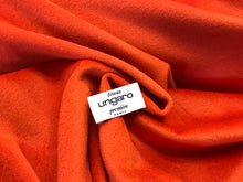 Load image into Gallery viewer, Designer 70% Wool 30% Cashmere Orange Coating     1/4 Meter price