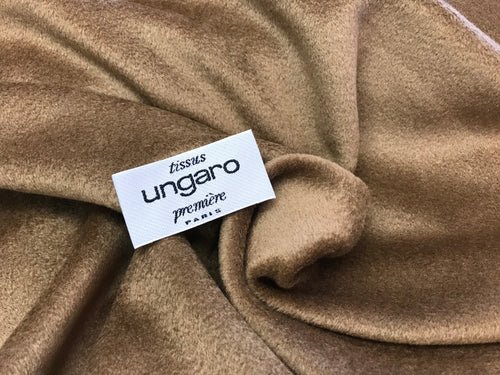Designer 70% Wool 30% Cashmere Camel Coloured Coating     1/4 meter price