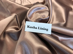 Rose Gold Kasha Lining     1/4 Meter Price