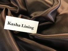 Load image into Gallery viewer, Brown Kasha Lining     1/4 Meter Price