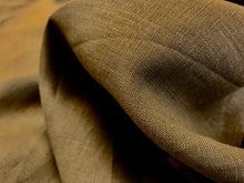 Load image into Gallery viewer, Olive Elmwood 100% Linen     1/4 Meter Price