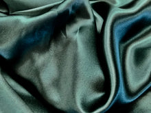 Load image into Gallery viewer, Forest Green 100% Silk Charmeuse     1/4 Meter Price