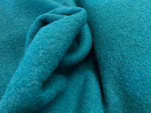 Bright Teal 100% Boiled Wool.      1/4 Meter Price