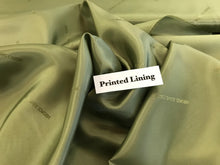 Load image into Gallery viewer, Celery Green Italian Designer 100% Viscose Lining     1/4 Meter Price