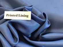Load image into Gallery viewer, Blue Italian Designer 100% Viscose Lining     1/4 Meter Price