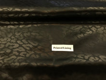 Load image into Gallery viewer, Black Jacquard Animal Print 100% Viscose Lining     1/4 Meter Price
