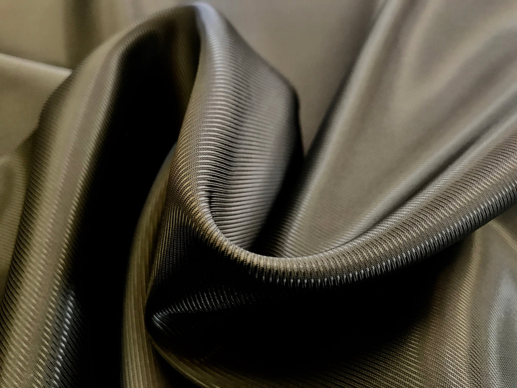 Deep Olive Green Twill 100% Acetate Lining.   1/4 Meter Price