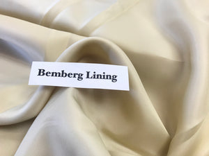 Grey Yellow Bemberg Lining      1/4 Meter Price