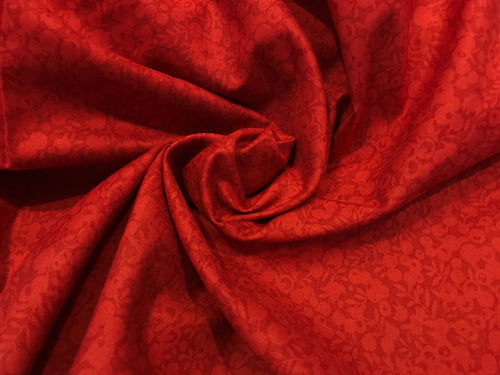 Liberty Wiltshire Ruby 100 % Cotton     1/4 Meter Price