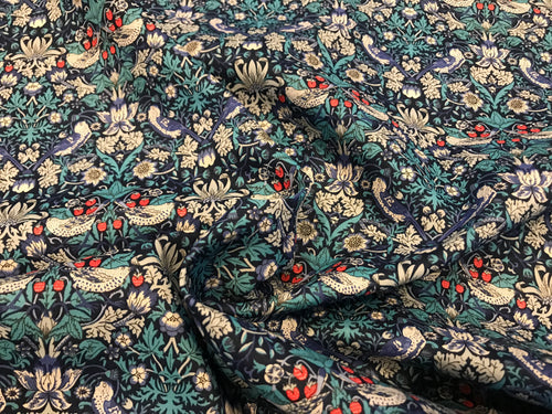 Liberty Tana Lawn Strawberry Thief-M 100% Cotton.    1/4 Meter Price
