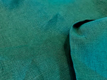Load image into Gallery viewer, Teal Green 100% Linen.    1/4 Meter Price