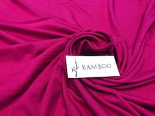 Load image into Gallery viewer, Magenta 92% Bamboo 8% Rayon Knit.     1/4 Meter Price
