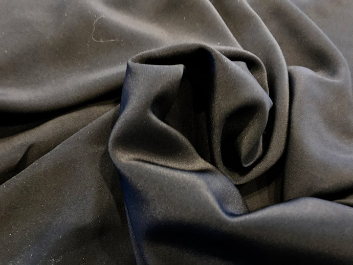 Midnight Navy 100% Silk Georgette.     1/4 Meter Price
