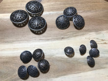 Load image into Gallery viewer, Gunmetal Filigree Buttons     Price per Button