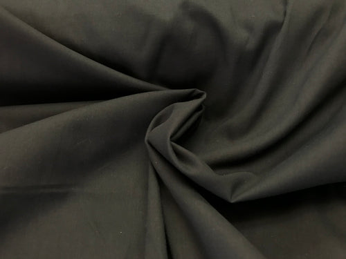 Lightweight Black 100% Cotton Broadcloth.    1/4 Meter Price