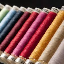 Gutermann 100% Cotton Thread   100 meters.   Colours.   #1001 - #6150