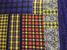 Load image into Gallery viewer, Designer Funky Tartan 100% Silk Knit Panel