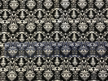 Load image into Gallery viewer, Black & White Damask Print 97% Cotton 3% Spandex