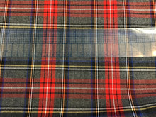 Load image into Gallery viewer, Grey and Red Plaid 85% Polyester 15% Rayon