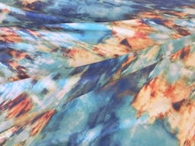 Load image into Gallery viewer, Blue and Orange Smoke 95% Rayon 5% Spandex