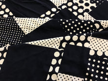 Load image into Gallery viewer, Black Cream Dot Print Rayon