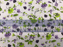 Load image into Gallery viewer, Lilac floral print 100% Cotton