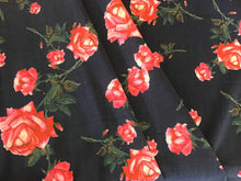 Load image into Gallery viewer, 100% Pink Floral Printed Wool