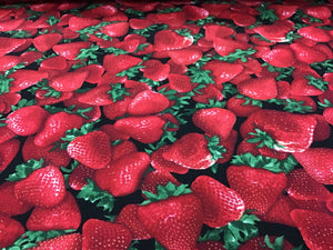 100% Cotton Fresh & Fruity Strawberries