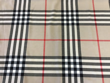 Load image into Gallery viewer, Tan Large Plaid Wool