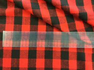 Black and Red Large Canadiana Check 100% Wool