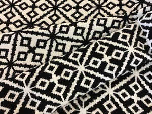 Black & White Diamond Wool Blend