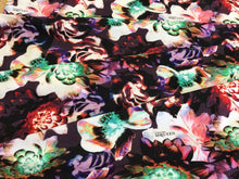 Load image into Gallery viewer, Purple Green & Red Floral Signature Print Cotton Knit