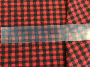 Black & Red Canadiana Check 100% Wool