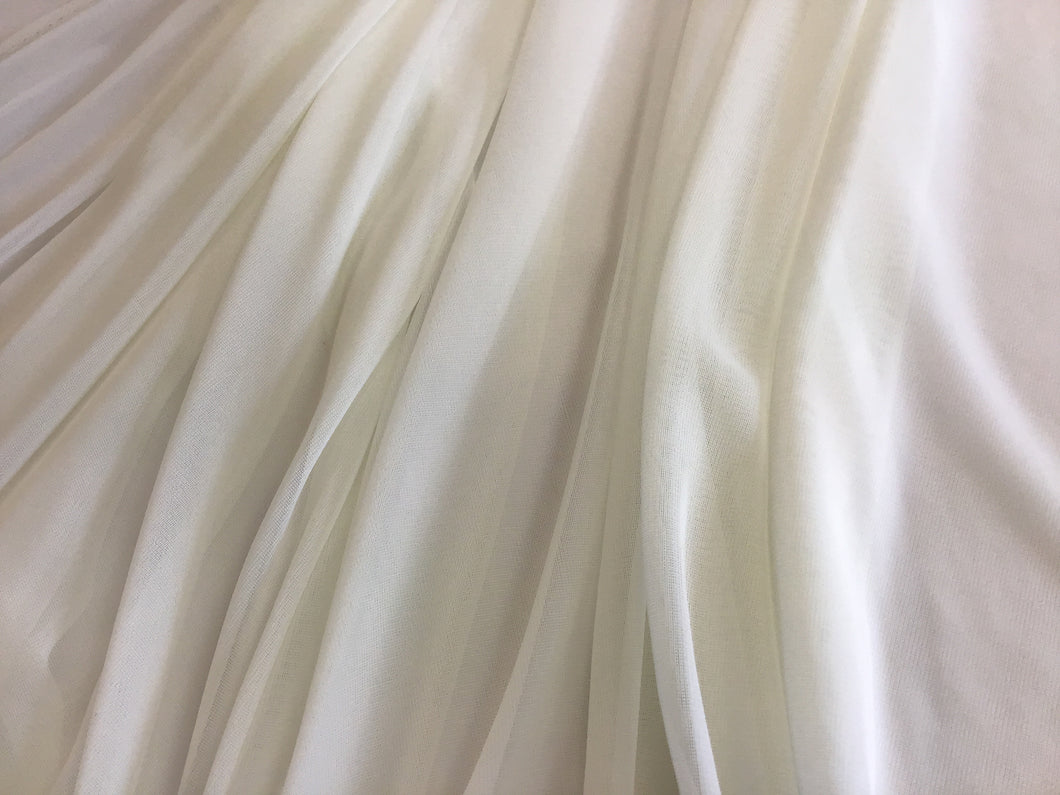 Off White Stretch Chiffon 100% polyester