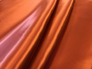 Rust Orange 100% Viscose Satin Lining