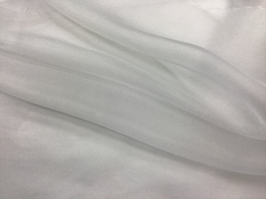 White 100% Silk Organza