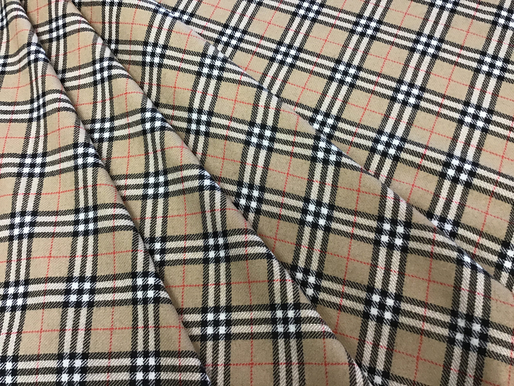 Designer Plaid 100% Wool