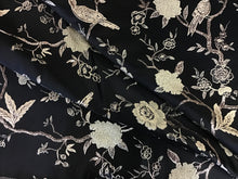 Load image into Gallery viewer, Black & Gold Bird Satin