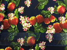 Load image into Gallery viewer, Apple Bloom Print on Navy 97% Cotton 3% Spandex