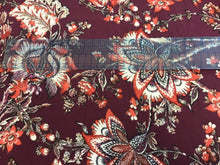 Load image into Gallery viewer, Burgundy Floral Knit