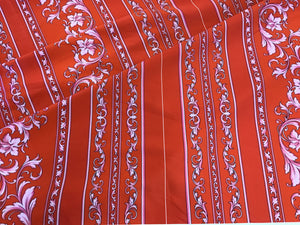 Designer Scroll Stripes Panel 100% Cotton