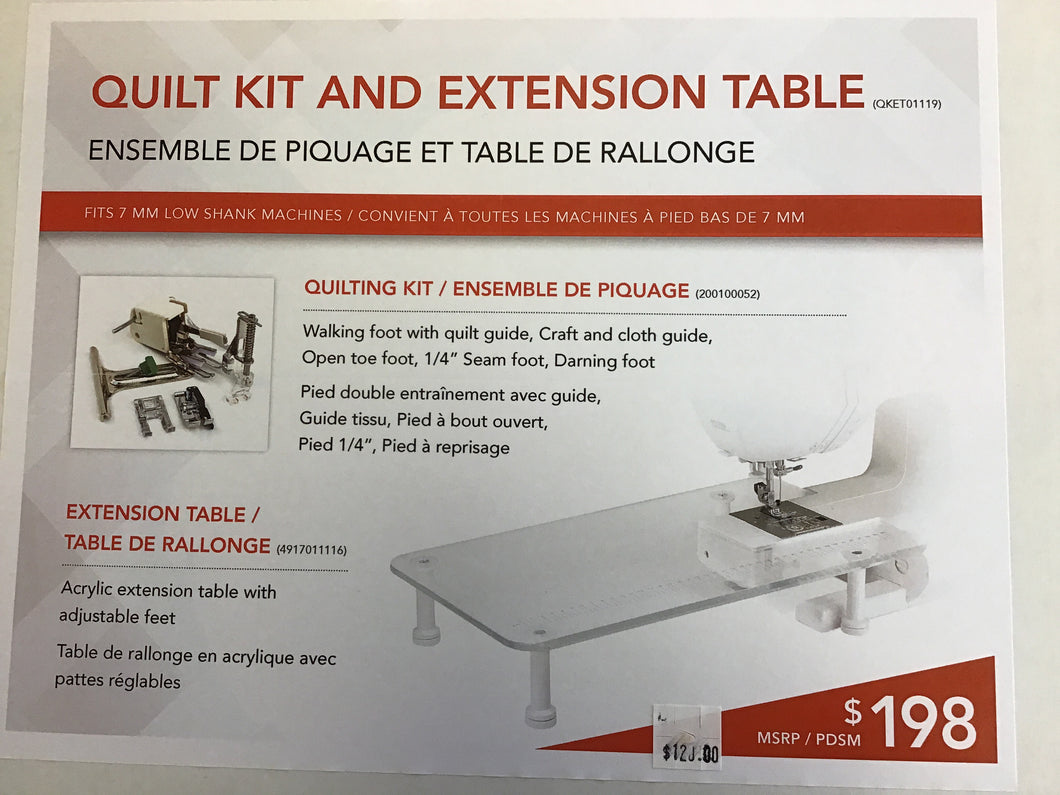 ELNA Quilt Kit and Extension Table