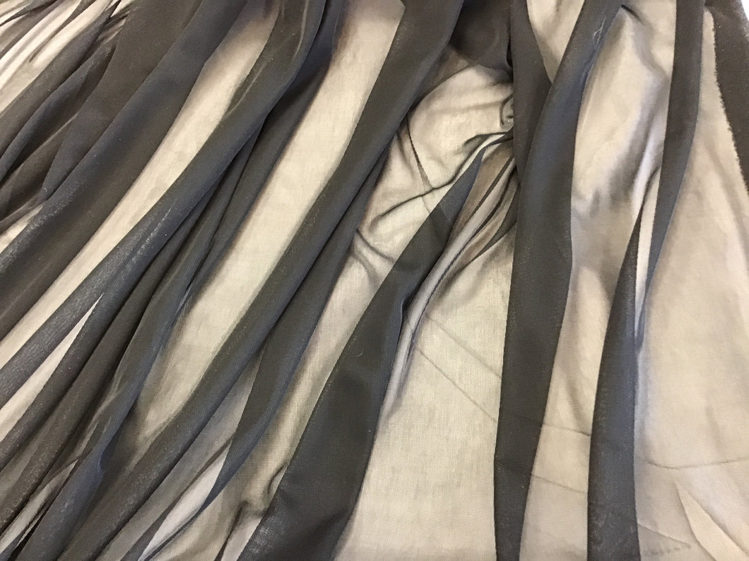 Black Matte Stretch Chiffon 100% polyester