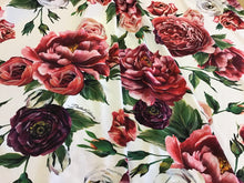 Load image into Gallery viewer, Designer Peony & Roses 100% Lycra