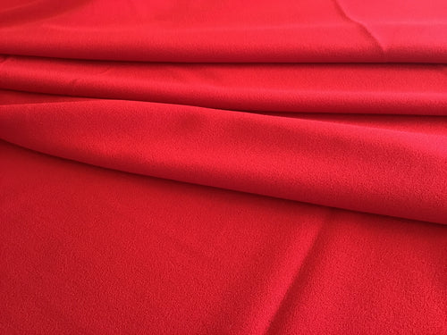 Red 100% Wool Crepe
