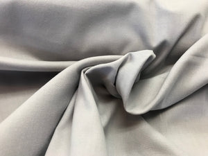Lightweight Dove Grey 100% Cotton Broadcloth.    1/4 Meter Price
