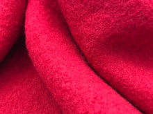 Load image into Gallery viewer, Red Boiled 100% Wool     1/4 Meter Price