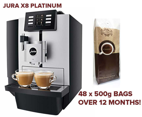 Splendour JURA x8 Platinum coffee package