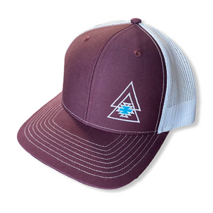 Burgundy & White Cap